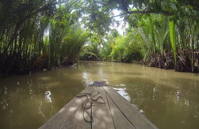 Canales del delta del Mekong
