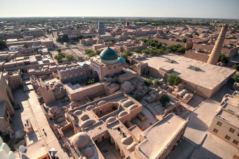 Vistas desde el minarete Islam Kodja