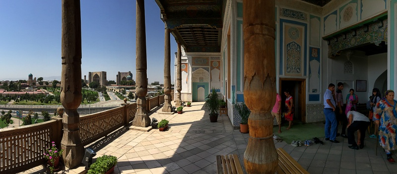 Vistas desde el patio de la mezquita Hazrat Khizr