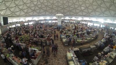 Zona de carnes en la cúpula del Chorsu Market